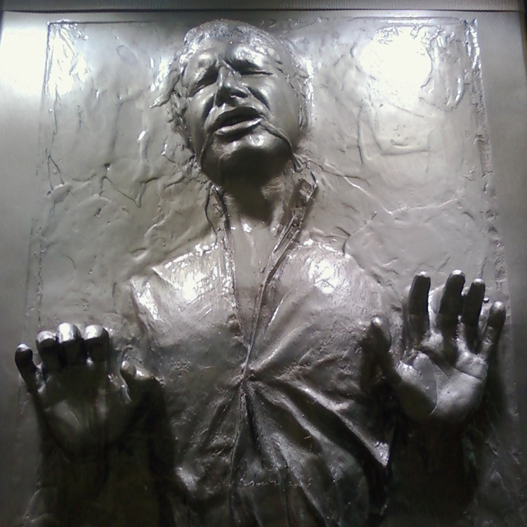 Han Solo trapped in carbonite  Star Wars In Concert at the HP Pavilion, fot. randychiu