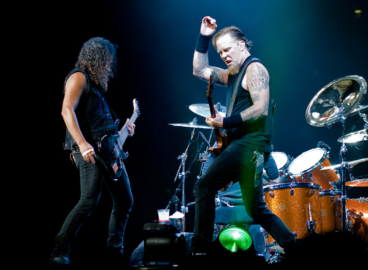 Kirk Hammett and James Hetfield, The O2 Arena, London, England, fot. Kreepin Deth